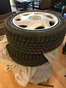 "4 X 16"" Rims + 2 Winter tires 205/55 R16 Jinyu"