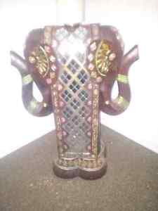 BEAUTIFUL DOUBLE HEADED SOLID WOOD/STANDS ABOUT 20 INCHES TALL