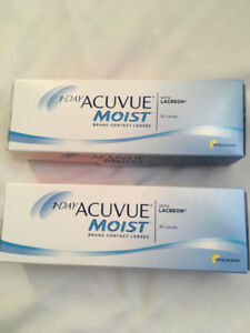 Brand New Acuvue 1-Day Moist Contact Lenses (strength -1.00)