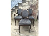 1 Ex Pub Dining Chair Louis Style Restaurant Pub Bar Project Job Lot Shabby 10 available seat