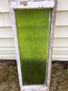 Green Antique Transom Glass