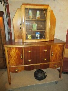 GRAMAS ESTATE 1930S ART DECO CHINA CABINET / HUTCH