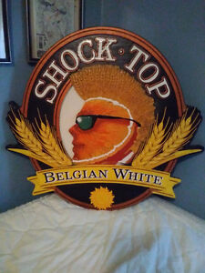 Dura Foam Shock top beer/bar sign