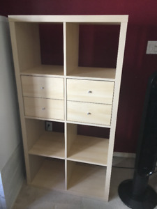 EXCELLENT CONDITION! Ikea KALLAX Tan shelf
