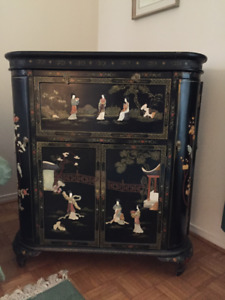 Meuble Bar Chinois *** Oriental Bar Cabinet