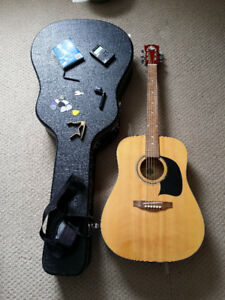Washburn House of Blues Acoustic Guitar (w/ hard case and more)