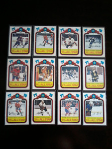 1978-79 opc hockey cards All Star Teams (Mike Bossy rookie year)