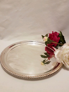 BIRKS of CANADA REGENCY silver plated tray ONE - $25 TWO - $40
