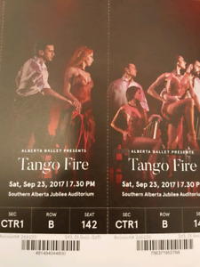 2 tickets first balcony centre stage - Alberta Ballet Tango Fire