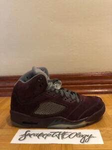 NIKE AIR JORDAN 5 RETRO LS - Burgundy