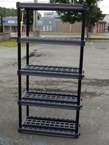 plano heavy duty polypropoline 5 level shelf