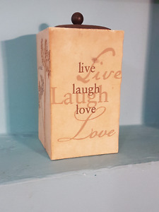 Live, Love, Laugh, Candle Holder for Sale