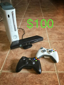 Xbox 360 + Kinect + 2 controllers