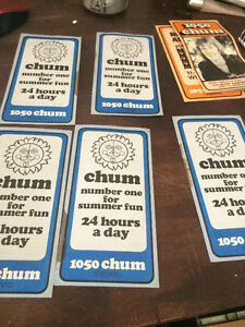 Vintage Chum Charts - Original Condition - Assorted Issues