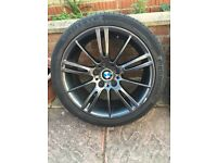"4 x 18"" Bmw mv3 alloy wheels with continental sport contact tyres"