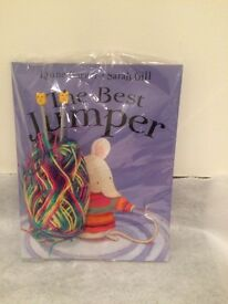 New story book, children's knitting needles and wool