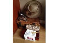 Renata Italian designer shoes and matching clutch bag and hat