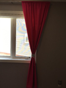 Bright pink blackout curtains 84 inches