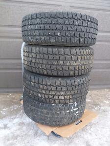 4 215/60R15 COOPER Winter Tire on Steel Rims
