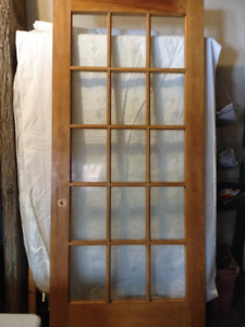 Custom made Solid wood Door with Crystal cut Glass Panes