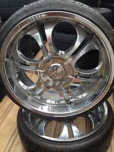 2  Rims with Tires size 225/30/20 Call :(514)777-6421