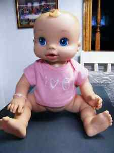 BABY ALIVE WIGGLES DOLL WITH ORIGINAL TOP