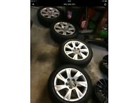Audi17inch alloys with tyres