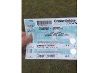 Cream fields Saturday tickets.
