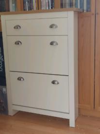 Brand new wood effect shoe cupboard