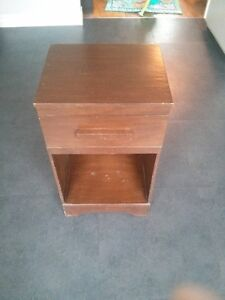 Small dark brown side table