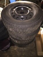 16 inch 5x115 GM steel wheels with winter tires