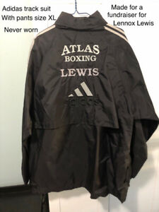 Adidas track suit with pants XL made for boxer Lennox Lewis