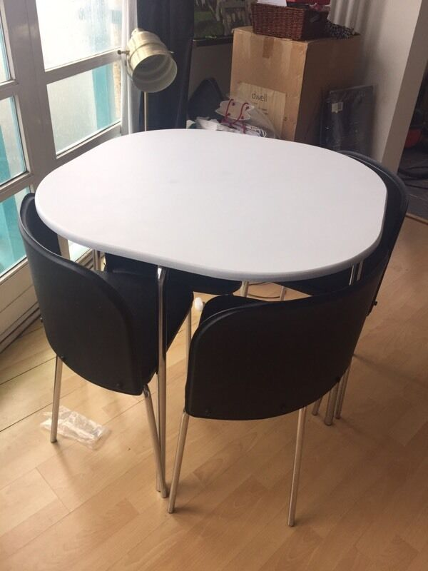 Argos Hygena Amparo Table White And Black For Sale Second