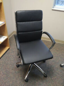 Retro Swivel Bonded Leather Chairs - Great Condition