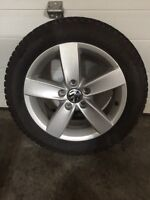 205/55R16 studded winter tires and Vw Jetta 16 wheels