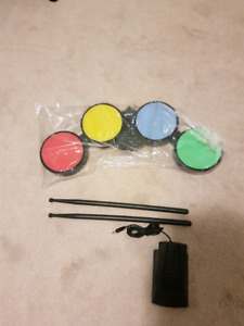 Drum set with pedal for Wii/ps3