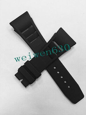 Men's dedicated Rubber diving watch strap silicone band for fit RICHARD MILLE