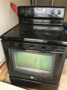 Maytag Black Electric Stove