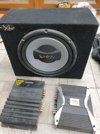Subwoofer and Amplifiers.