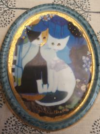 Goebel Rosina Wachtmeister oval plate ornament