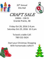 Friends of the Royal Purple Craft Sale - Elk's Hall