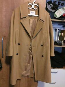 Camel duffel coat