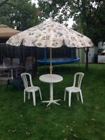 Table et parasol