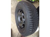 Perfect spare wheel vw 5stud 14 in near new tyre bargain buy