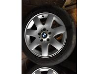 Bmw 7 spoke alloy wheels with good tyres