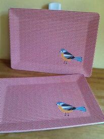 🛍🎄Large Birdie print trays Brand new