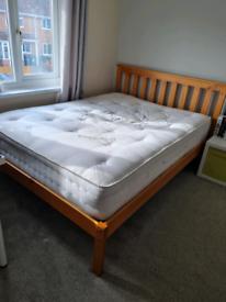 New pine double bed Birlea Denver