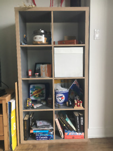 Like New Shelving Unit (Grey/Wood)