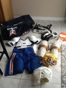 HOCKEY EQUIPEMENT,complete outfit for sale $5 and $10. WILL SELL