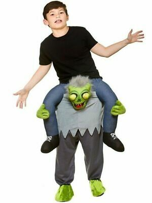 Kids ZOMBIE Carry Me Halloween Scary Spooky Fancy Dress Costume Mascot Child  (Scary Mascot Costumes)